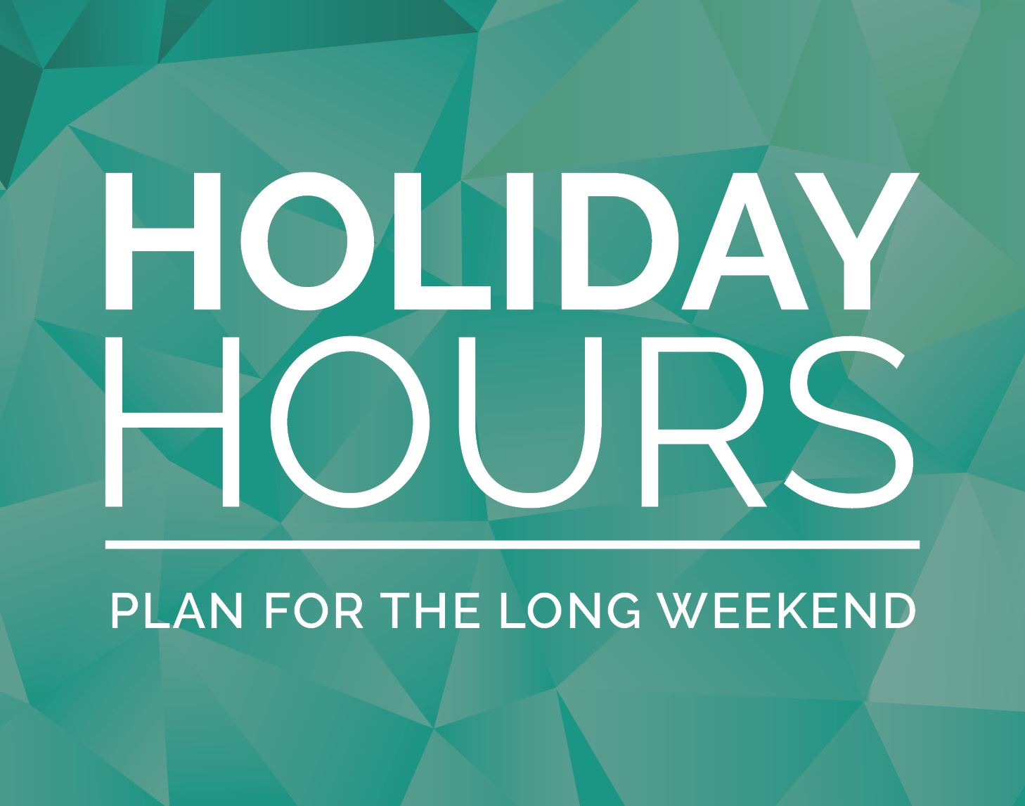 Holiday Hours April 2019