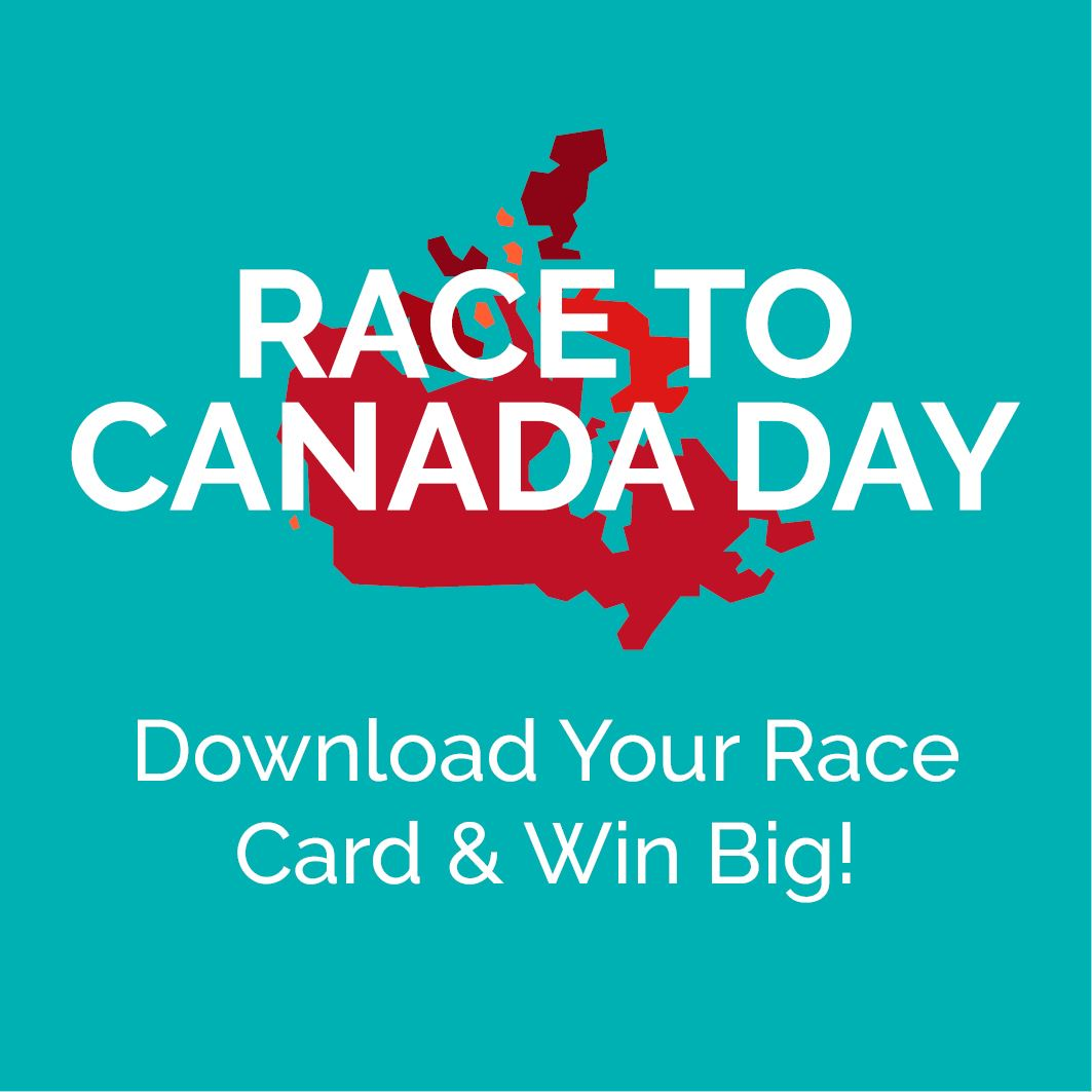 Race to Canada Day Button