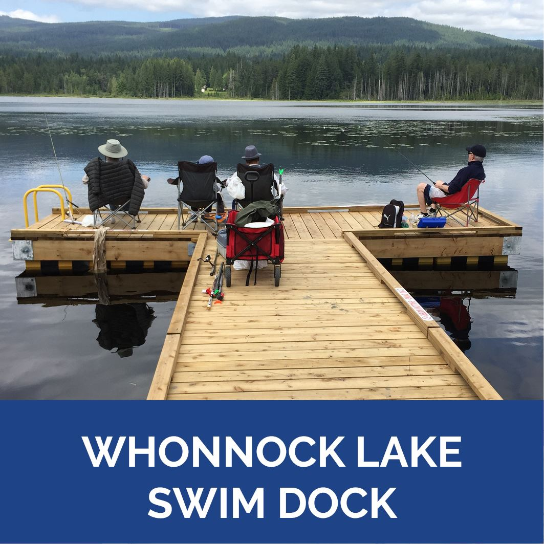 Whonnock Lake Swim Dock Completed