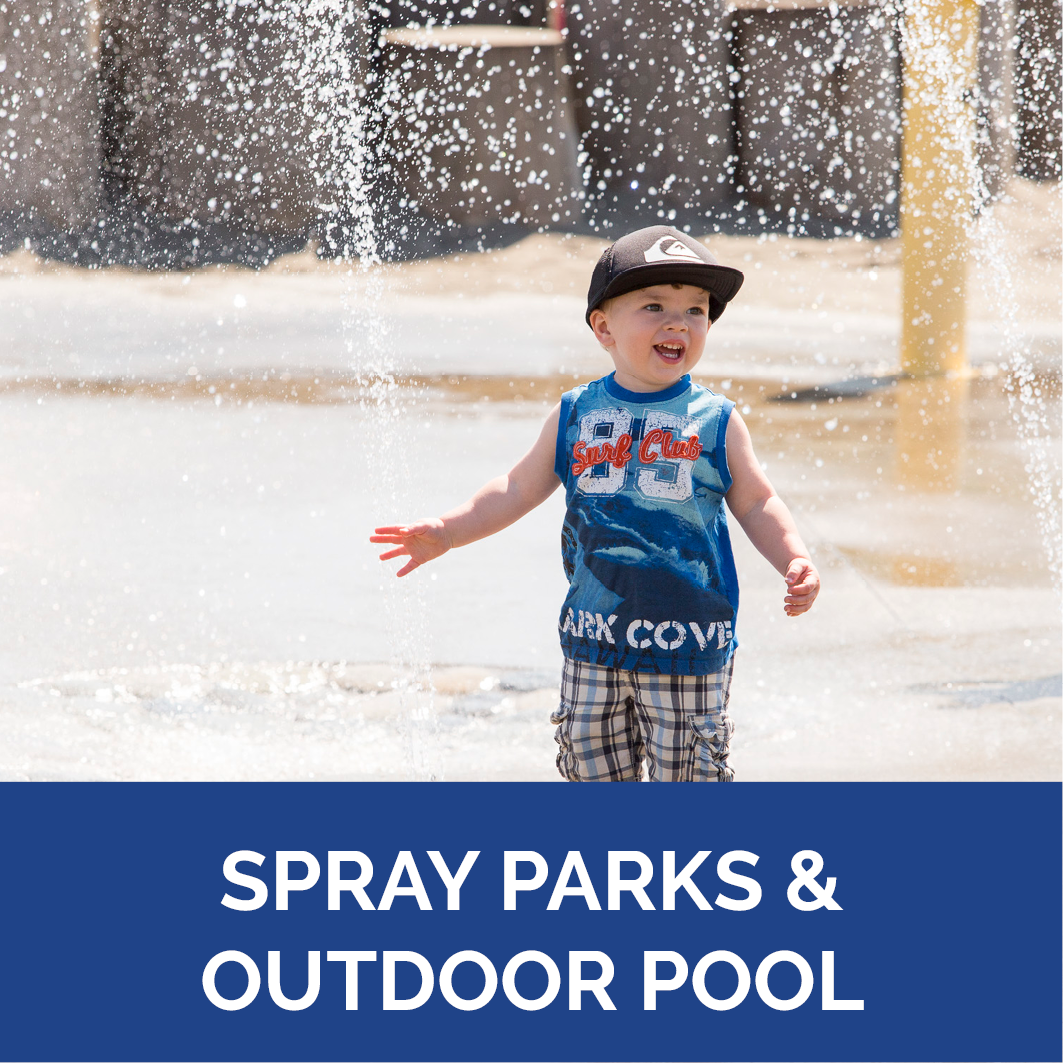Spray Parks & Outdoor Pool Button
