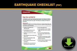 Download: Earthquake Checklist