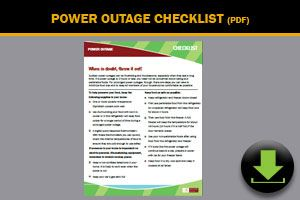 Download: Power Outage Checklist