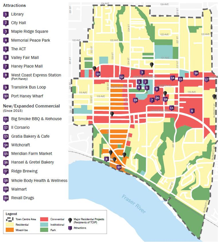 Maple Ridge Town Centre Development Map